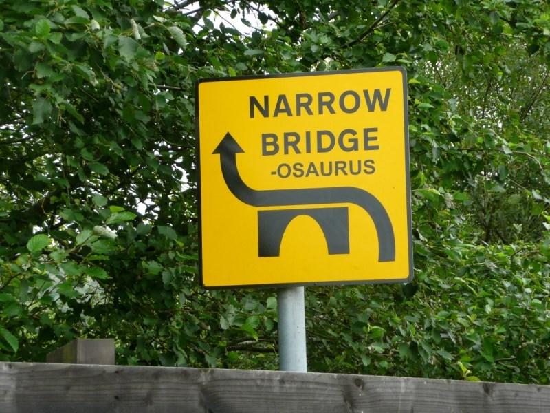 bridgeosaurus engrish funny g rated narrow bridge - 6324066816