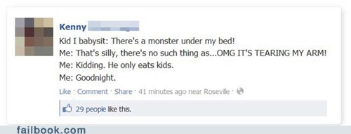 babysitting kids monster parenting