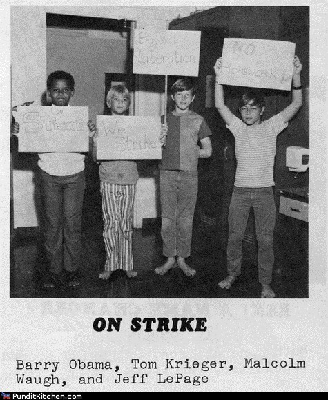 barack obama,children,political pictures,strike
