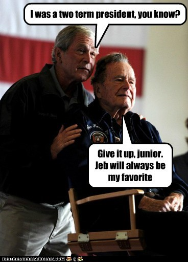 george-bush-sr,george w bush,political pictures,Republicans