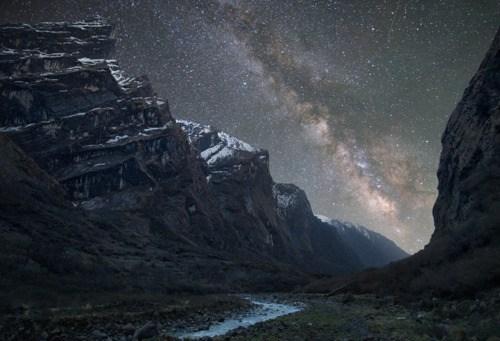 Himalayan Mountains milky way nepal night stars - 6324380416