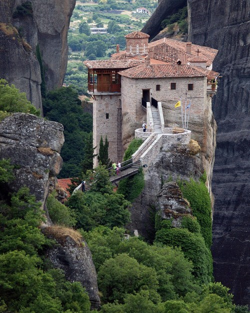 architecture cliff greece mountain tower - 6324402176