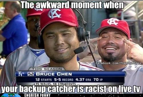baseball,bruce chen,humberto quintero,kansas city royals,MLB,racism,racist