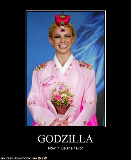 GODZILLA Now in Geisha flavor