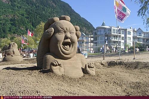 Babies beach sand sculpture wtf - 6324424704