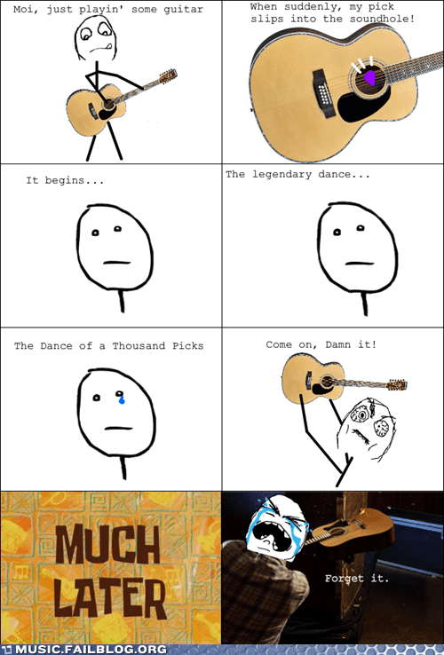 comic guitar guitar pick pick rage comic