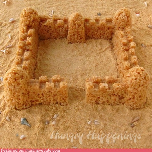 caramel castle epicute rice krispie treats sand castle - 6324549888