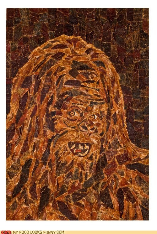 art,Beef,bigfoot,jerky,mosaic,snack,yeti