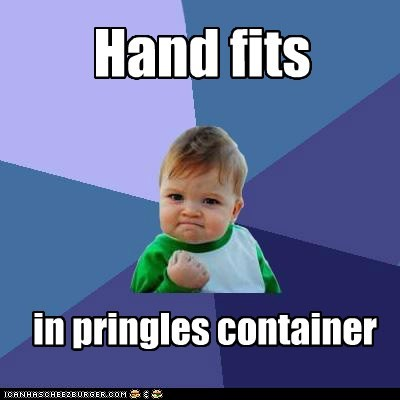 can fits hand pringles success kid - 6324585216