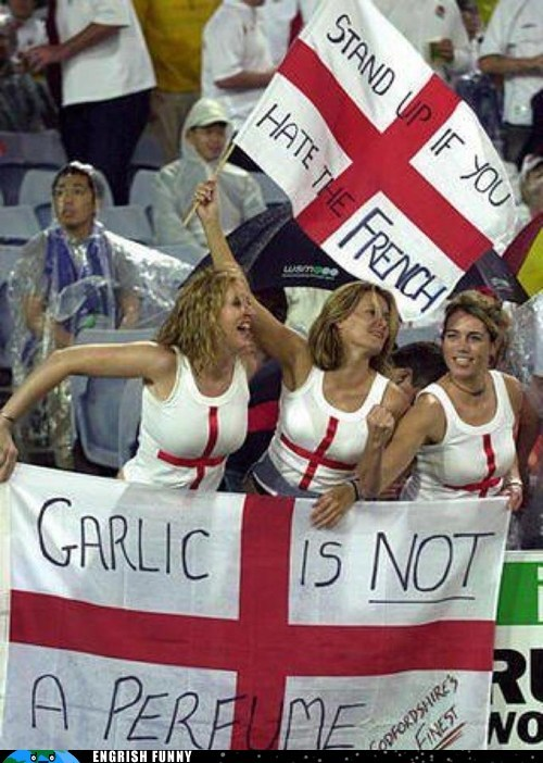 British england english euro 2012 france french garlic perfume UK