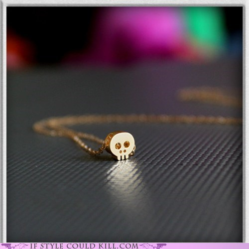 cool accessories Jewelry necklaces skeletons skulls - 6324649984