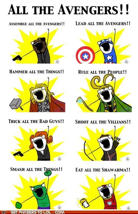 avengers best of the week black widdow captain america chris hemsworth hawkeye hulk loki Nick Fury shawarma smash steve rogers - 6324713472