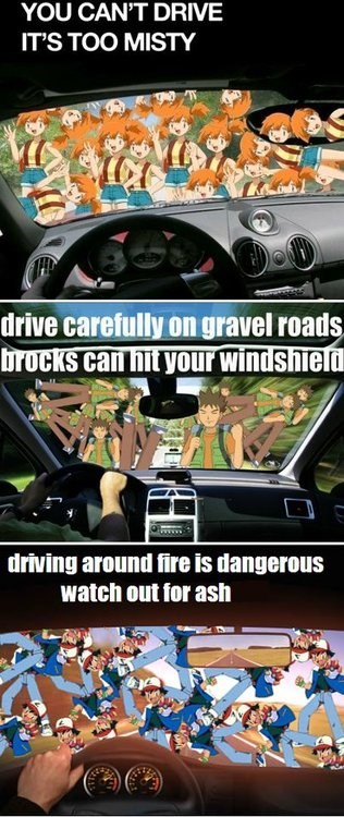 anime ash brock meme Memes misty pokepuns puns - 6324733952