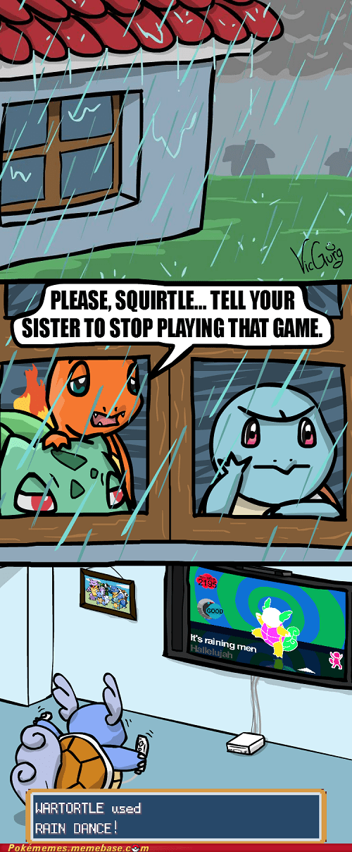 comic Rain Dance squirtle starters video games - 6324762624