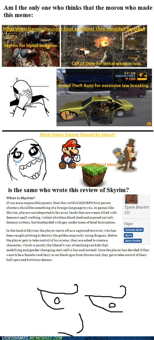 dafuq,lol,meme,review,Skyrim,the internets,violence