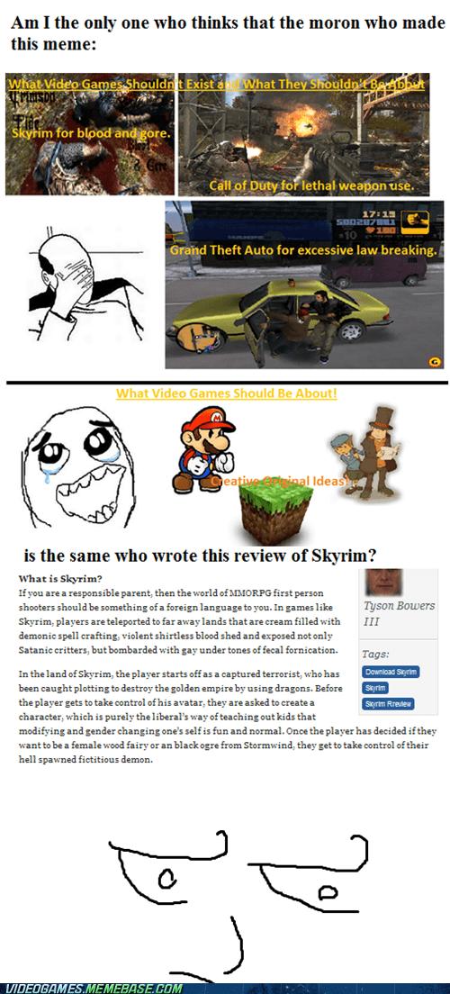 dafuq lol meme review Skyrim the internets violence - 6324799744