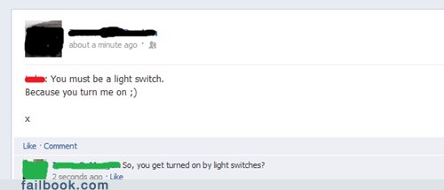 dating light switch pickup line turning on