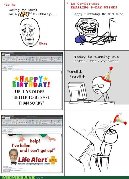 birthday life alert ok Rage Comics - 6324936960