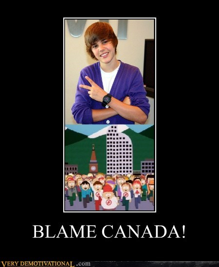 Canada hilarious justin bieber South Park - 6325066752