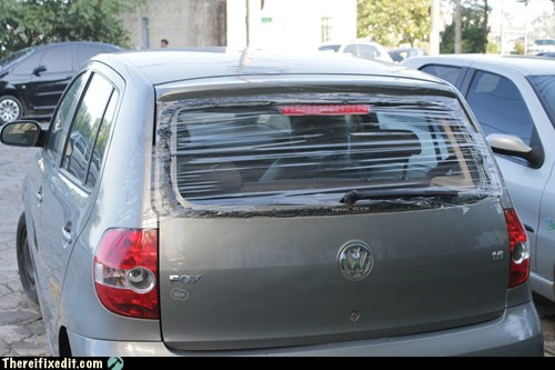 back window car window cling wrap plastic wrap rear window saran wrap volkswagen VW window window wrap - 6325086976
