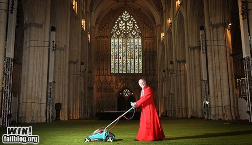 cathedral church design lawn mowing - 6325173504