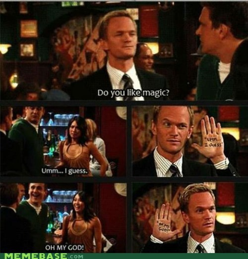 barney stinson,how i met your mother,magic,Memes,TV
