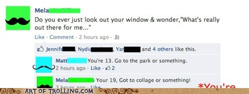 college,facebook,ooh diss,spelling,truancy story