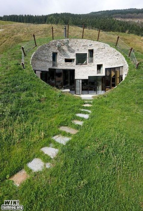 architecture burrow design hill home