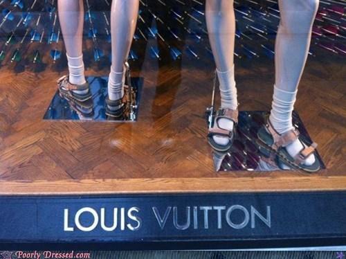 fashion Louis Vuitton sandals socks style tacky - 6325378816