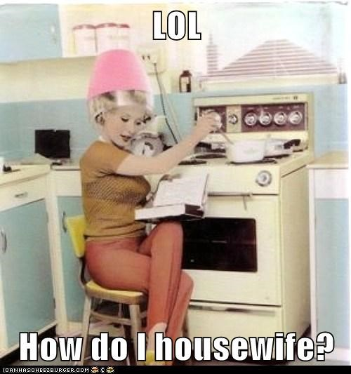 cooking hairdryer housewife Multitasking reading