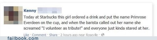 failbook g rated hunger games Starbucks - 6325483520