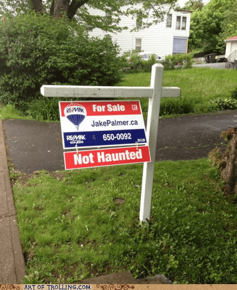 for sale haunted IRL sign - 6325697024