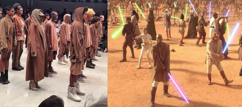 fashion NYFW homeless kanye west star wars Yeezy season 2 - 632581