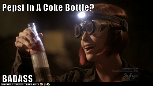 allison scagliotti,artifacts,claudia donovan,coke bottle,pepsi,syfy,warehouse 13