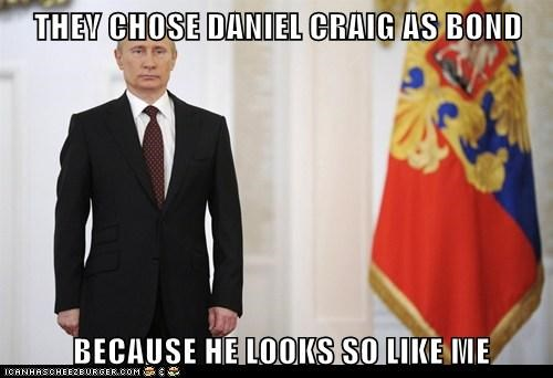 Daniel Craig,james bond,political pictures,Vladimir Putin