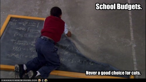 blackboards,broken,budget,cuts,eureka,kids,school