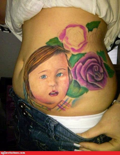 baby belly tattoos flowers - 6326499840