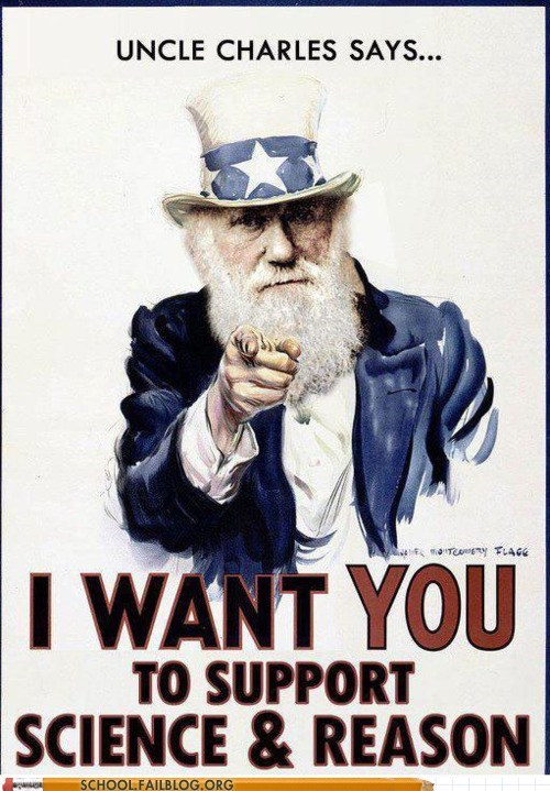 charles darwin,evolution,i want you,science and reason,spread the word
