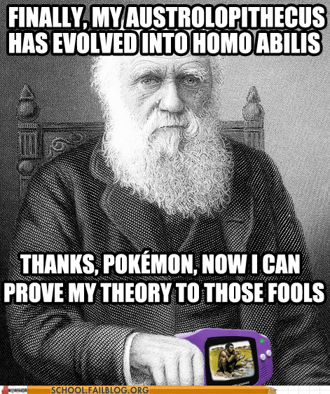 biology 404,charles darwin,evolution,Pokémon