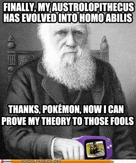 biology 404 charles darwin evolution Pokémon - 6326663424