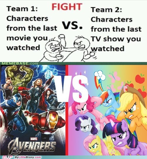 Bronies epic my little pony The Avengers TV - 6327053056