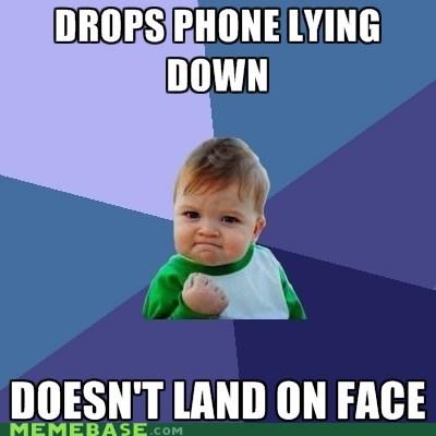 drop face lying down phone success kid - 6327150848