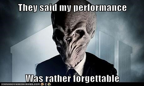 They said my performance Was rather forgettable