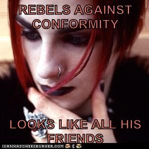 conformist,emolulz,friends,rebels,scumbag emo
