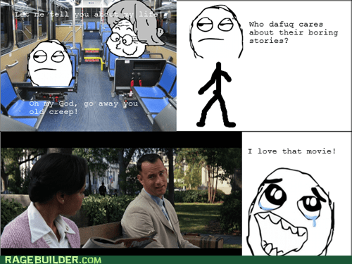 Forrest Gump old people Rage Comics stories - 6327478528