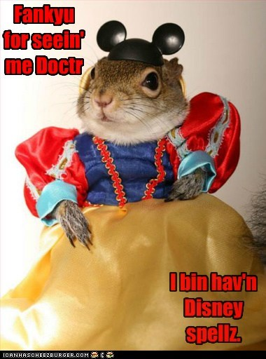 best of the week disney doctor Hall of Fame puns sick snow white song squirrel thank you - 6327671296