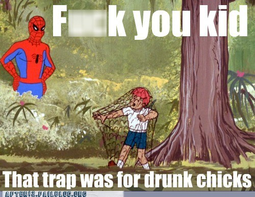 drunk chicks,Spider-Man,trap