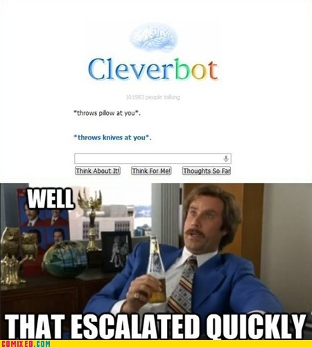 anchorman best of week clever bot From the Movies knives Movie Will Ferrell