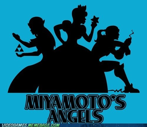 charlies-angels crossover miyamoto princess peach princess zelda samus - 6327733248