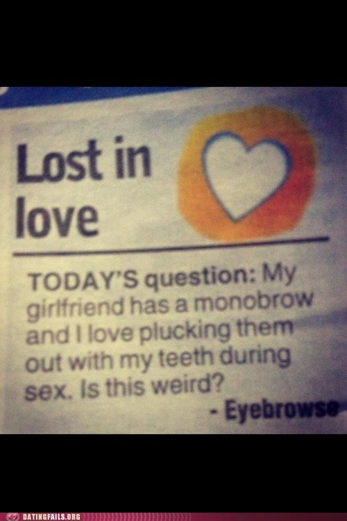 lost in love,monobrow,sex,todays-question
